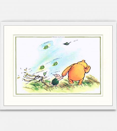 Pooh and Piglet in a gale