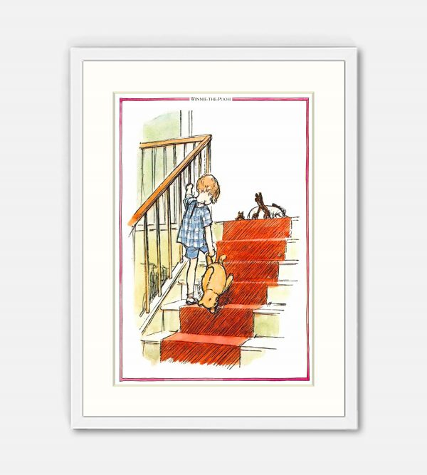 Up the stairs bump bump bump