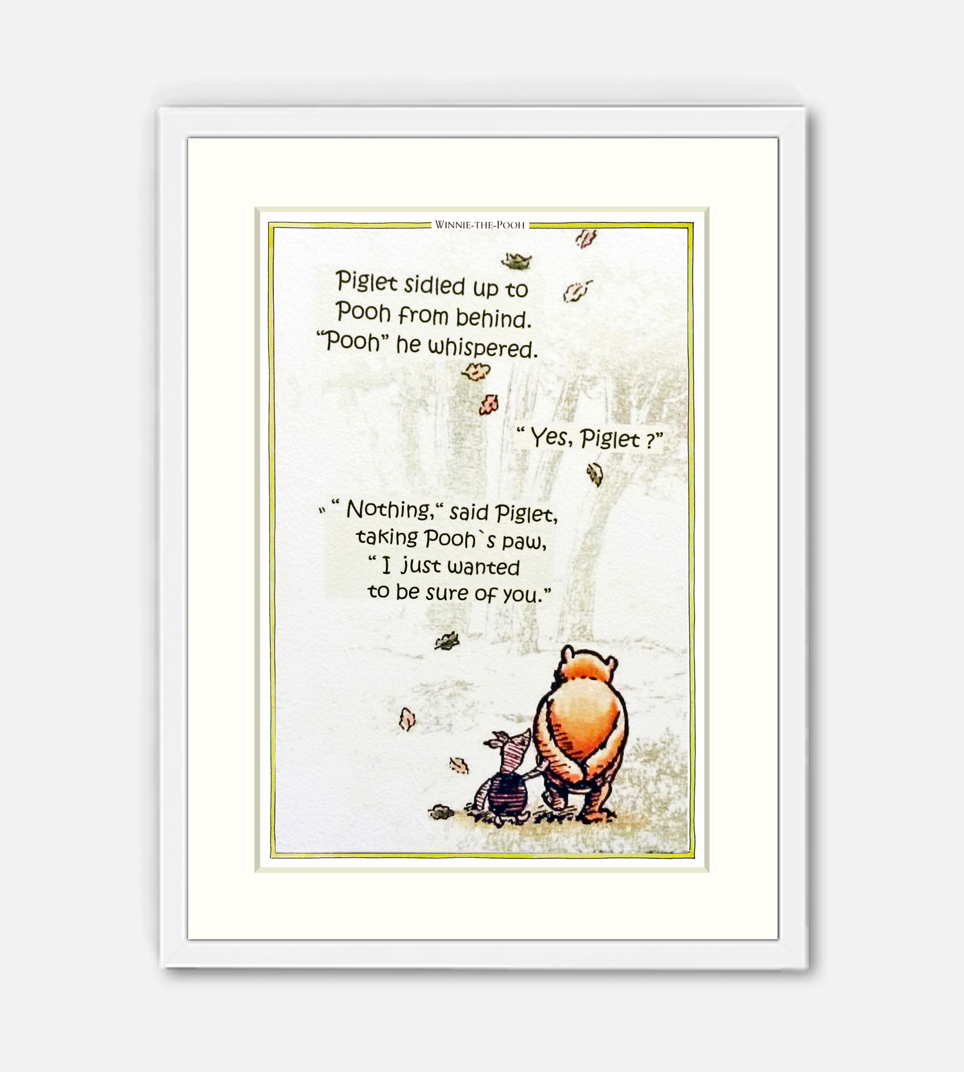 Piglet Sidled Up To Pooh Classic Winnie The Pooh Prints
